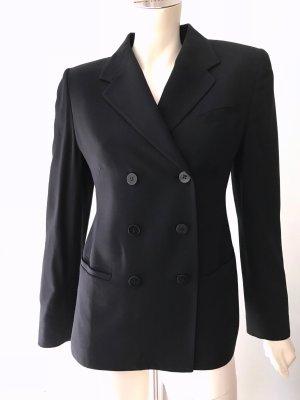 Antonio Fusco Klassischer Blazer black wool
