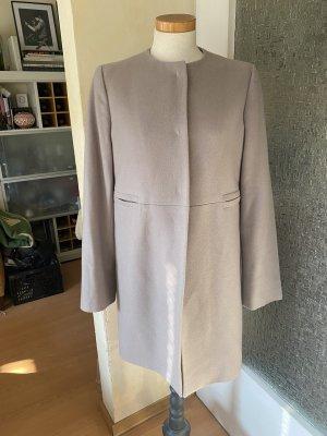 Antonio Fusco Wełniany płaszcz szaro-brązowy