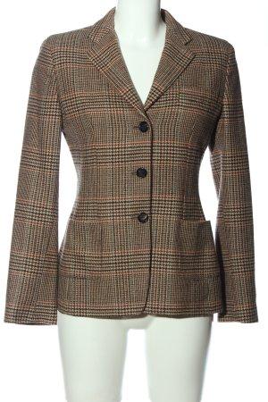 Antonio Fusco Wool Blazer brown-natural white check pattern casual look