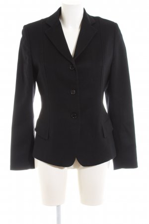 Antonio Fusco Woll-Blazer schwarz Business-Look