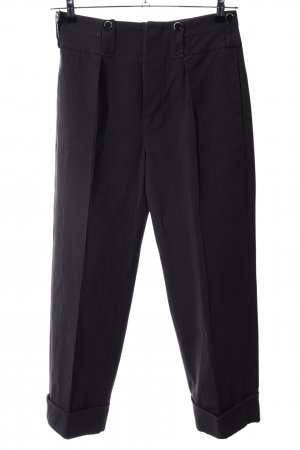 Antonio Marras Bundfaltenhose schwarz Business-Look