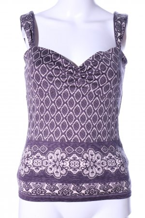 Antonio Melani Strappy Top lilac-natural white abstract pattern casual look