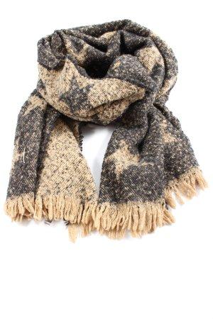 Antony Morato Écharpe en tricot noir-brun motif graphique style décontracté