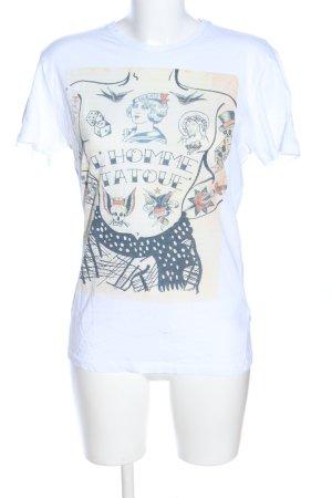Antony Morato T-shirt blanc-crème imprimé avec thème style décontracté