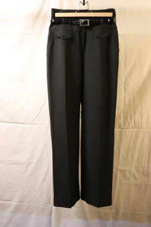 antrazitfarbene, high waist Anzughose Mac