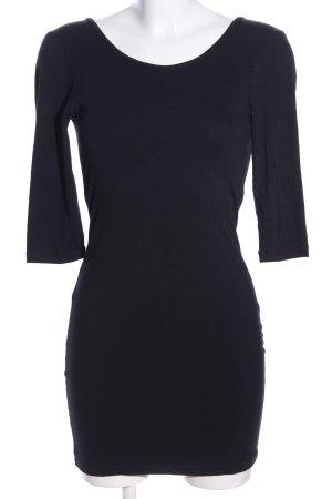 Stretchkleid schwarz Motivdruck Elegant