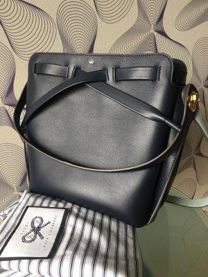 Anya hindmarch Shoulder Bag dark blue-pale blue leather
