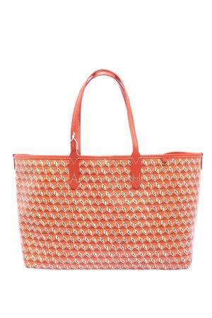 Anya hindmarch Sac porté épaule orange clair-blanc imprimé allover