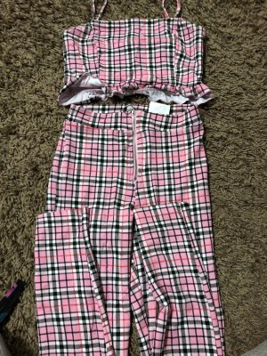 C&A Twin set in jersey rosa