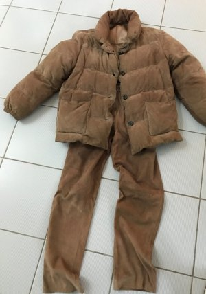 Tailleur-pantalon bronze cuir