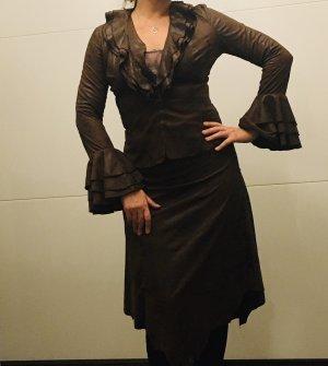 Serena Kay Pinstripe Suit dark brown-brown