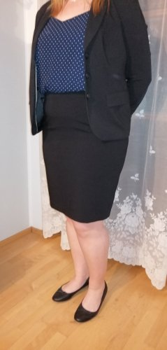 Anzug, High Waist Rock, Anzughose, Blazer