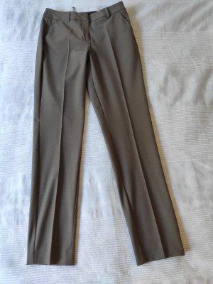 Comma Pantalon de costume gris brun