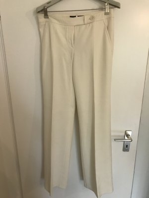 Hallhuber Pleated Trousers natural white viscose