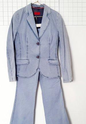 Hugo Boss Tailleur-pantalon bleu azur coton