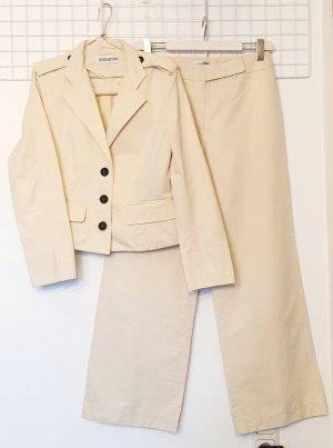 Iris von Arnim Tailleur-pantalon crème-beige clair coton