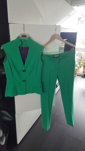 Pantalon de costume vert polyester