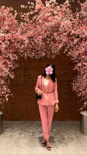 Bershka Traje de negocios rosa