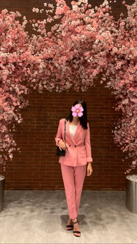 Bershka Abito business rosa
