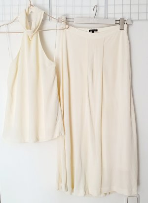 Massimo Dutti Ladies' Suit natural white-oatmeal viscose