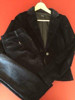 Max & Co. Business Suit dark blue cotton