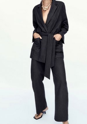 Zara Pinstripe Suit dark blue