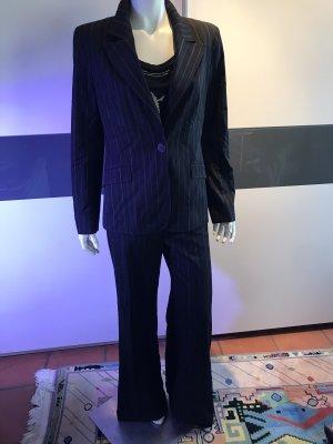 Zara Basic Traje a rayas negro-blanco