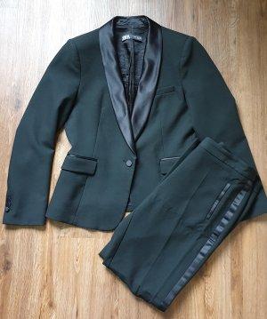Anzug Set Smoking Blazer + Hose mit Reverskragen und Seitenstreifen