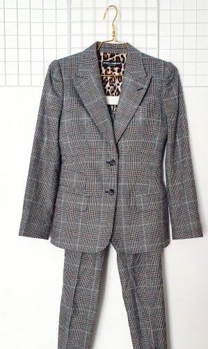 Dolce & Gabbana Tailleur noir-gris polyester