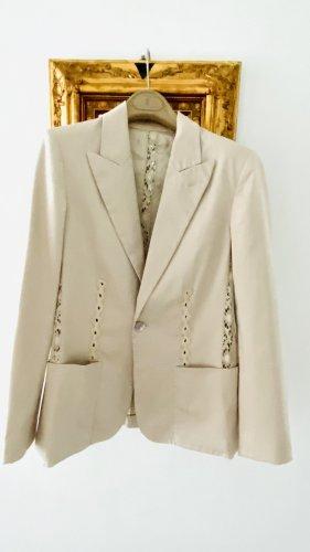 Jean Paul Gaultier Tailleur pantalone crema Cotone
