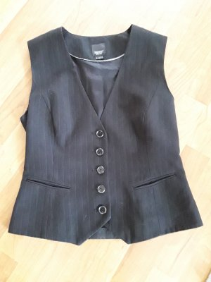 Anzug Weste mit Nadelstreifen von Esprit, Gr. 38, schwarz