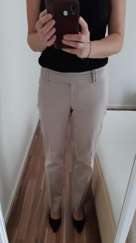 Clockhouse Pleated Trousers oatmeal-natural white cotton