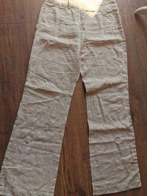 Anzughose aus Leinen mit Goldfäden