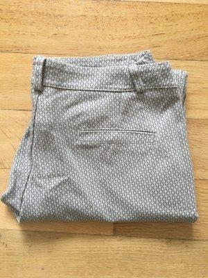 Anzughose, beige, grau, Muster, Stoffhose, Italien, Gr. S