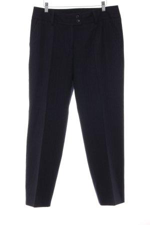 Anzughose dunkelblau-blassblau Streifenmuster Business-Look