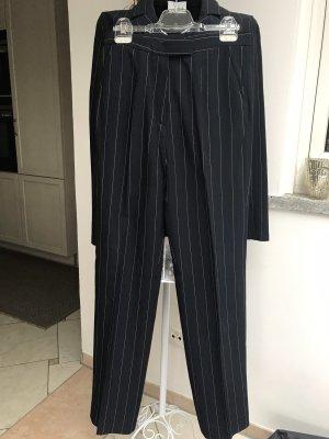 Anzughose dunkelblau weiß gestreift von Sahza