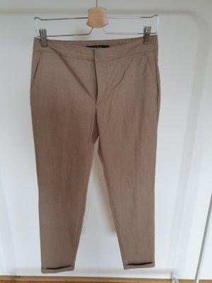 Zara Basic Pantalone da abito sabbia
