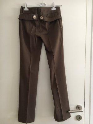 Le group woman Spodnie garniturowe szaro-brązowy