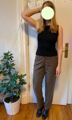 Brax feel Good Wełniane spodnie brązowy