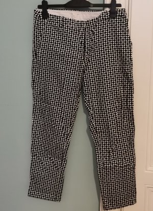 Zara Suit Trouser white-black