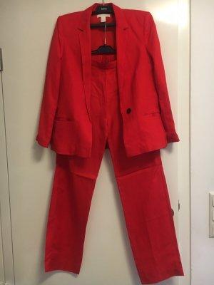 H&M Spodnie garniturowe czerwony