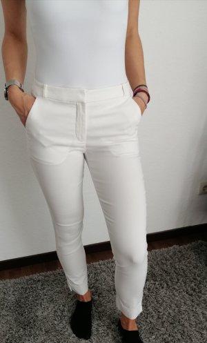 Mango Spodnie garniturowe biały