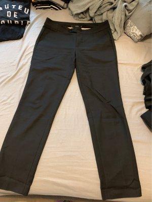 Mango Pantalón de pinza alto negro