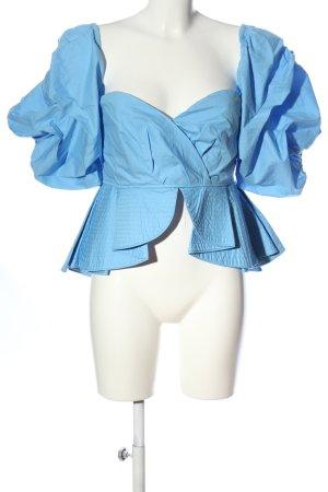 aomei Koszula typu carmen niebieski Elegancki