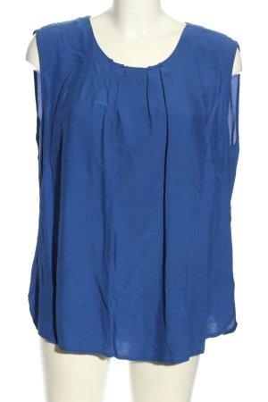 Apanage ärmellose Bluse blau Business-Look