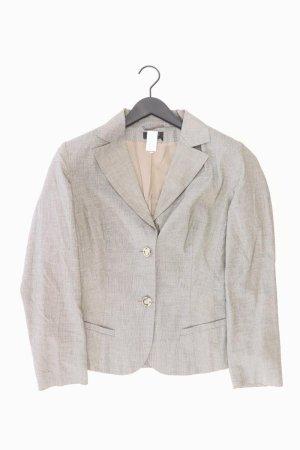 Apanage Blazer Größe 42 grau aus Baumwolle