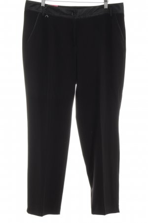 Apanage Bundfaltenhose schwarz Business-Look