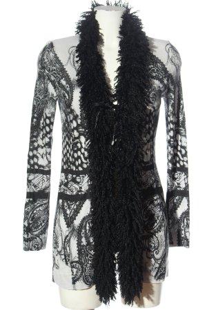 Apanage Cardigan bianco-nero stampa integrale stile stravagante