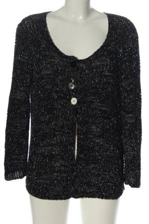Apanage Cardigan nero-bianco puntinato stile casual