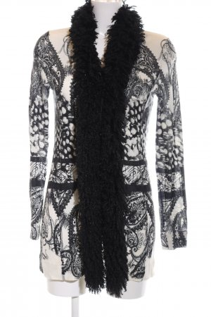 Apanage Cardigan natural white-black allover print elegant